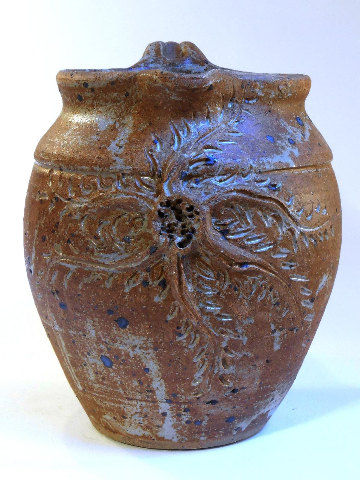 Pichet boule fleur marron